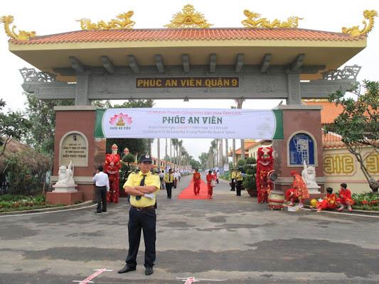 cổng chính phúc an viên